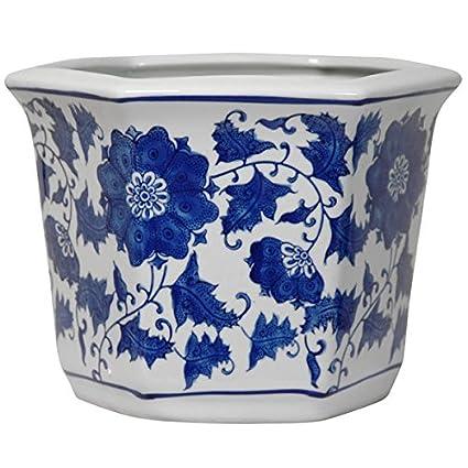 Amazon porcelain blue and white flower pot bluewhite china porcelain blue and white flower pot bluewhite china mightylinksfo