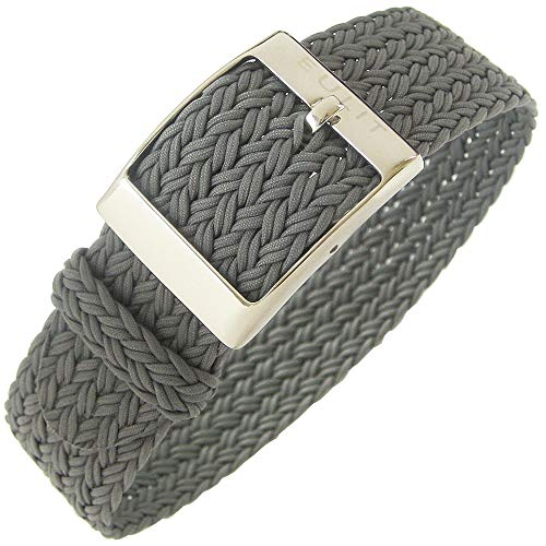 Eulit Palma 20mm Grey Perlon Watch Strap by Eulit (Image #4)