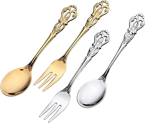 Cutlery Wedding Cutlery English Steel The Vintage Table Table Accessories Set of 5 desert forks Vintage Party Small Forks Tableware
