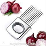 Practical Stainless Steel Onion Slicer Vegetable Potato Tomato Meat Cutter Kitchen Holder Tool