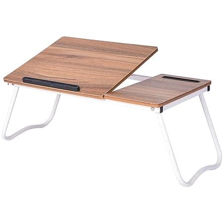 Mesa de cama portátil Bandeja plegable de la cama de la tabla de ...