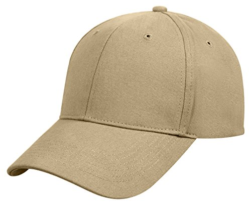 Low Cap Profile Supreme - Rothco Supreme Solid Color Low Profile Cap, Khaki