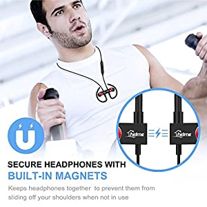 Bluetooth Headphones Wireless for Running sport Earbuds with Mic iphone samsung Earphones Noise Cancelling Headset True HD Sound Stereo Earpiece CSR 8645 IPX5 Waterproof Sweetproof HELME (black)