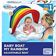 SwimSchool New Fabric Baby Pool Float, Splash & Play Activity Center, Multi-Position Canopy, Dual Air Pill
