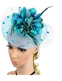 Charming Big Flower Headband Netting Mesh Hair Band Cocktail Hat Party  Girls Women Fascinator 1488e381de3
