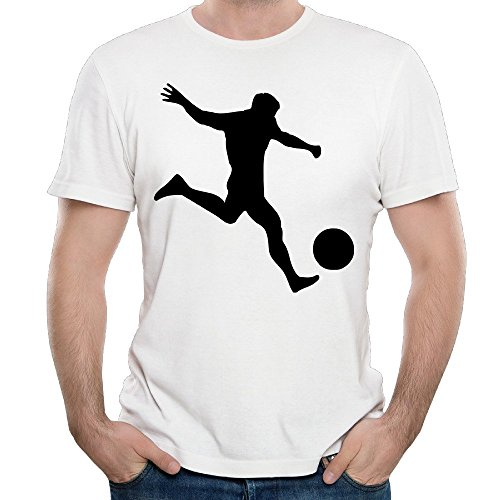Just Tinge Men's Fun Soccer Player 4 2016 Short Sleeves T Shirts Crew Neck S White