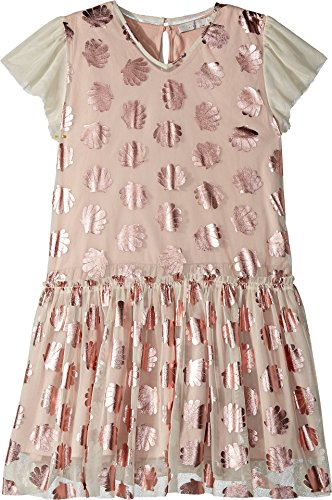 Stella McCartney Kids Baby Girl's Bellie Tulle Dress w/Metallic Seashells (Toddler/Little Kids/Big Kids) Pink 4T by Stella McCartney Kids