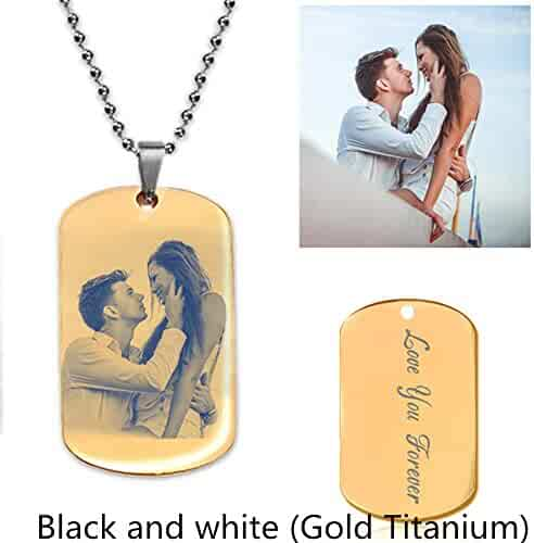 4e86ad36fd Personalized Photo Necklace Customize Pendant Portrait Necklace Dog Tag  Memorial Jewelry Christmas Gift