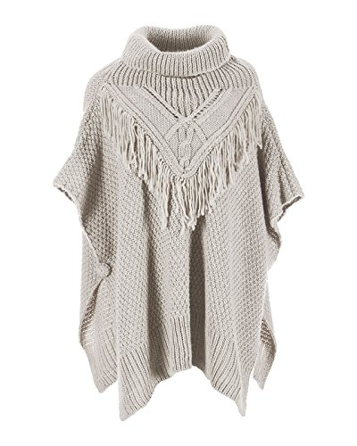 Coco + Carmen Women's Cable + Fringe Cowl - Womens Coco Sweater