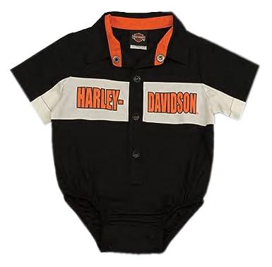 7b7e6fd0d Harley-Davidson Baby Boys' Short Sleeve Woven Shop Shirt Creeper 3050783 (6/