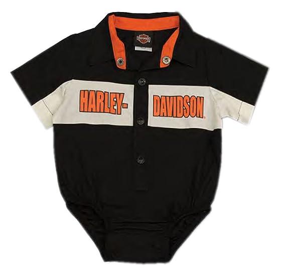 Harley Davidson Baby Clothes Extraordinary Amazon HarleyDavidson Baby Boys' Short Sleeve Woven Shop Shirt