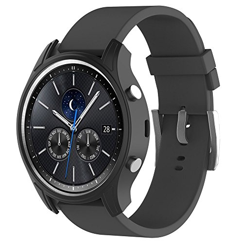 Price comparison product image Voberry Silicone Slim Smart Watch Case Cover For Samsung Gear S3 Classic (Black)
