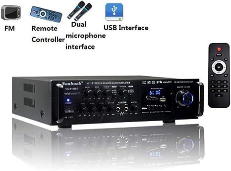 KOKU Amplificador Bluetooth, Sunbuck 200W 12V/220V Setero ...