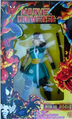 1997 Ninja Rogue 10-inch Deluxe Marvel Universe Action Figure (Marvel Universe X Men compare prices)