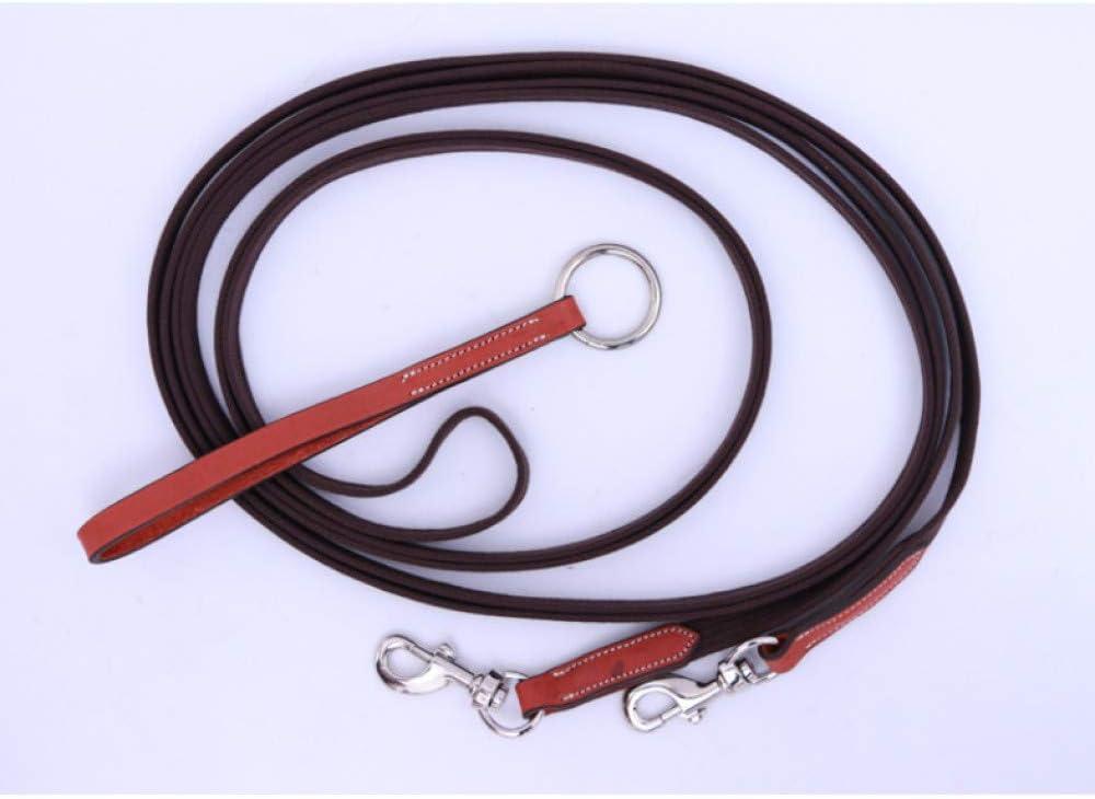 Cuerdas De Plomo Para Caballos Halters Weave Rein Equestrian Supplies,Entrenamiento De Accesorios De Cuero De Vaca Arnés De Brida De Caballo,Equipo De Cabestro Para Caballo,Fuerte Y Antioxidante Café