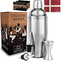 """""""Looking for a Way to Save Money on Drinks and Impress Your Friends at the Same Time? - This Danish Quality Checked Cocktail Shaker Set is Your Answer!""""- A Danish Designed and Quality Checked Cocktail Shaker Set. This is What You've Been Miss..."""