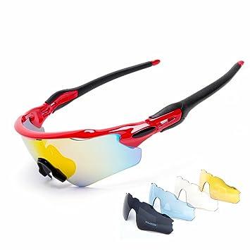 8062c26193 Cuzaekii 5 Lente Polarizado Ciclismo Gafas UV400 Intemperie Deportes Gafas  de sol para Hombres Mujeres Cycling