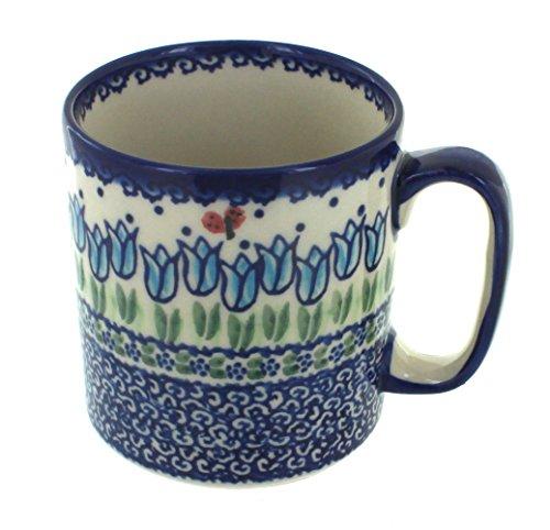 Blue Rose Polish Pottery Garden Tulip Coffee - Mug Garden Rose