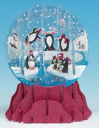 3D Pop Up Penguins Snowglobe Christmas Card: Amazon.co.uk: Kitchen ...