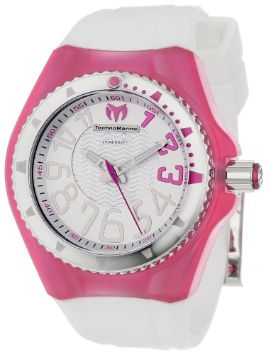 TechnoMarine Women s 110058 Cruise Original Beach 3 Hands Silver and Pink Dial Watch