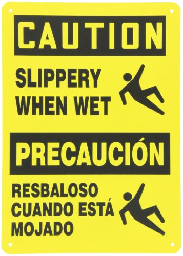 (Accuform SBMSTF674VP Plastic Spanish Bilingual Sign, Legend