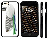 Rikki Knight Golf Ball Tee on White Design iPhone 6 Case Cover (Black Rubber with front bumper protection) for Apple iPhone 6 and 6s
