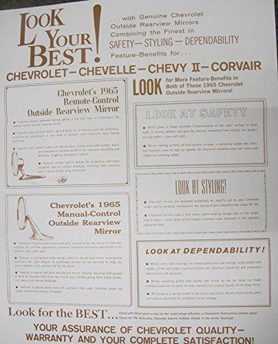 1965 Chevrolet Impala Chevelle Nova Corvair List ORIGINAL Showroom Poster -