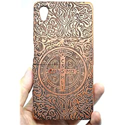 Sony Xperia Z5 Premium Wood Case, PhantomSky[Luxury Series] Premium Quality Handmade Natural Wood Cover for your Z5 Premium - Rose Wood Cross