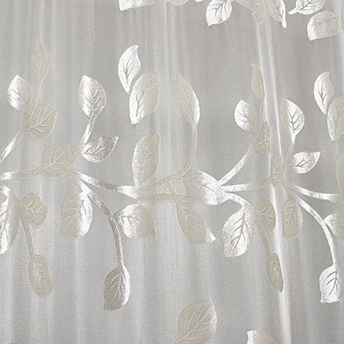 MinminTown(TM) Modern and simple Voile Curtains leaves embroidered curtain advanced Voile match curtains Factory outlets (Factory Curtain Outlet)