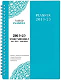 2019-2020 Academic Planner - Weekly & Monthly Planner, 6.25' x 8.3', Flexible Cover,12 Monthly Tabs, 21 Notes Pages, Twin-Wire Binding with Two-Sided...