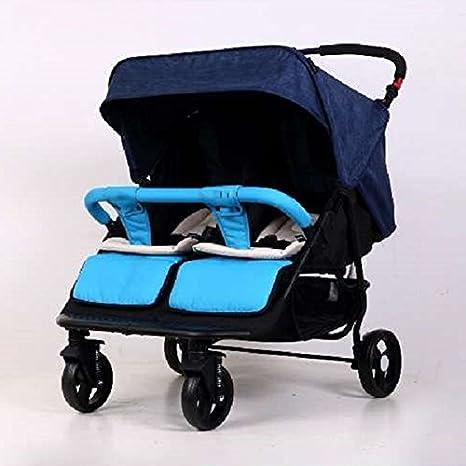JM Carro de bebé Multifuncional cochecito de bebé doble Ligero ...