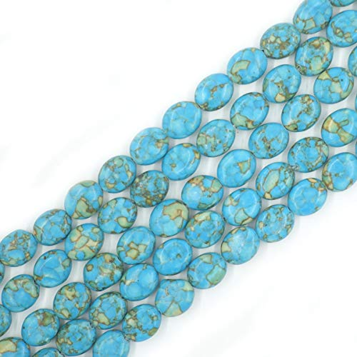 9x11mm Oval Blue Imperial Jasper Beads Loose Gemstone Beads for Jewelry Making Strand 15 Inch ()