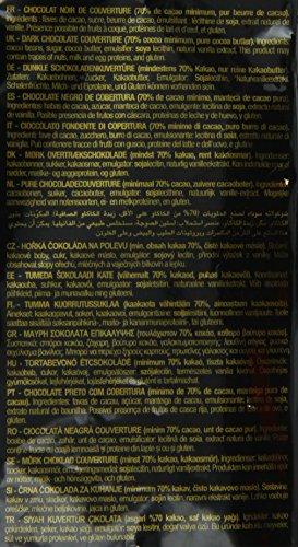 Valrhona Dark Chocolate - 70% Cacao - Guanaja - 6 lbs 9 oz bag of feves by Valrhona (Image #2)
