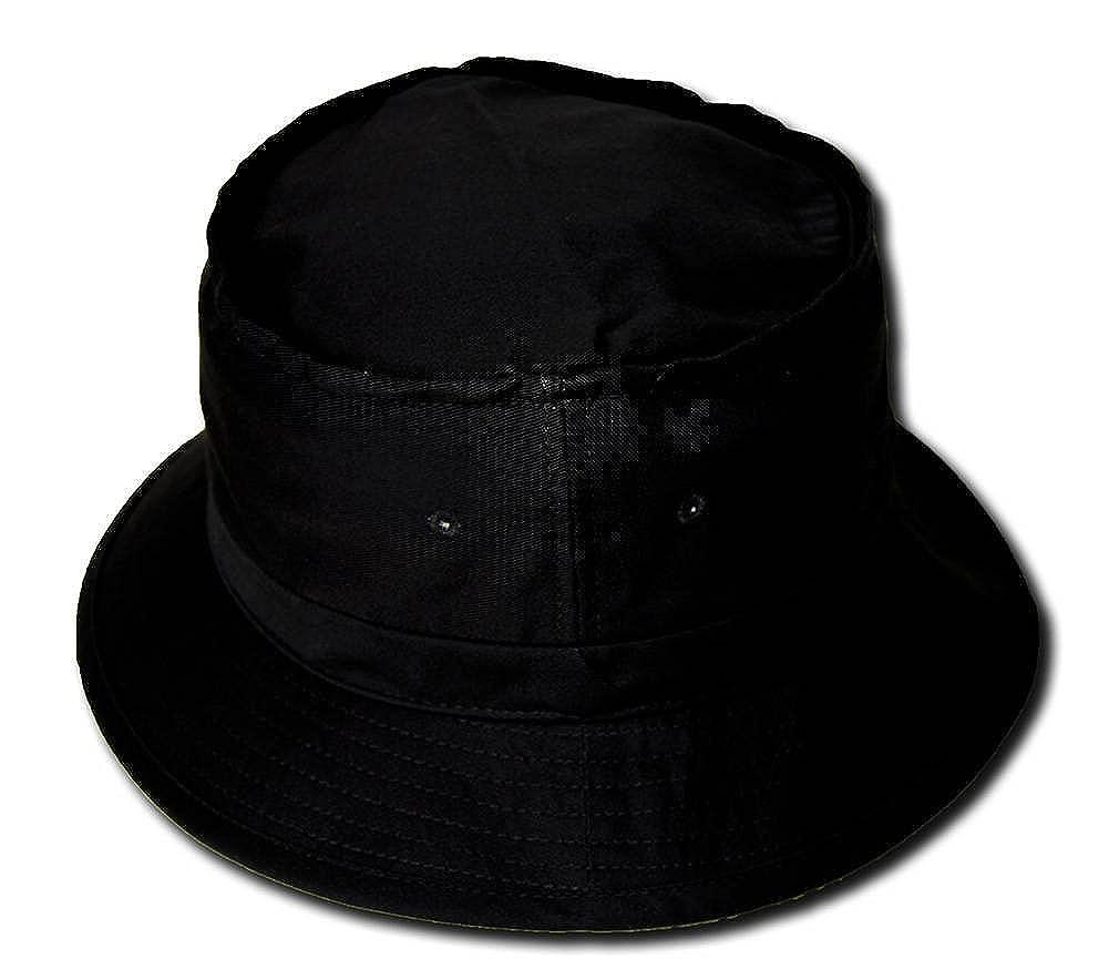 8fa984a8 Amazon.com: Blank Bucket Fishing Hat, Large/X Large, Black: Clothing