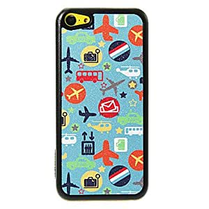 LZX Vehicles Pattern Shimmering PC Hard Case for iPhone 5C