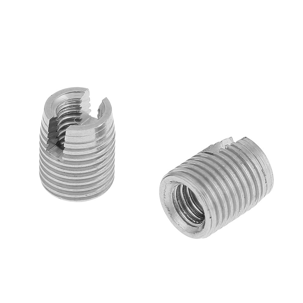Thread Repair Insert,M3 x 6mm Stainless Steel SUS303 Self Tapping Slotted Screw Thread Insert Set Installed Directly and Easy to Maintenance for Low Strength Materials 20pcs