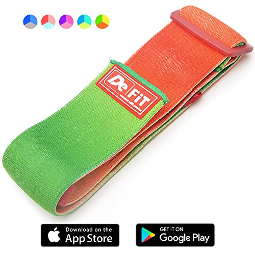 DeFiT Sale!!! Adjustable Hip Resistance Band - Hip Band (13'-17') Circle & Booty Bands - Fabric Resistance Bands - iOS/Android Prof Fitness Mobile App with Exercise eBooks, Videos & Nutrition Guid