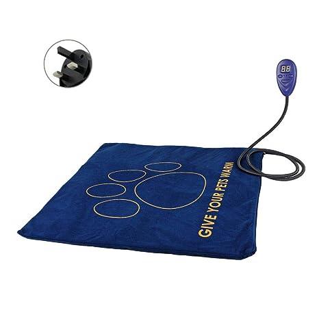 Seasons Shop Cojín de calefacción eléctrica para Mascotas, Impermeable Temperatura Ajustable Esterilla de Calentamiento para