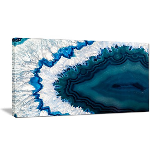 Blue Brazilian Geode Abstract Canvas Wall Art Print (Geode Blue)