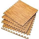 Tapettini in schiuma EVA - Effetto legno - Tappetini ad incastro - Ideale per la palestra, per la casa, ecc