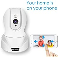HD Wireless WiFi Surveillance IP Security Camera with Stable Seamless Streaming,Motion Detection,Night Vision,Remote Viewing and Recording,2-Way Audio,Pan/Tilt/Zoom,for Home/Shop Monitor,White