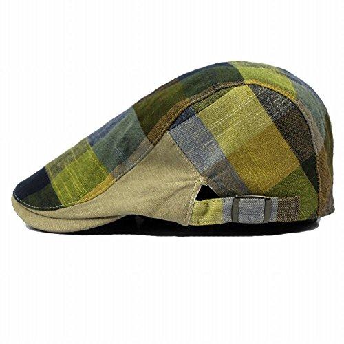Naray Men's Classic Herringbone Tweed Wool Blend Newsboy Ivy Hat