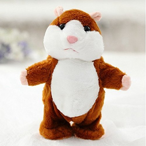 Animated Interactive Stuffed Animal Hamster Toy Talking Mimic Robot Pet Dolls for Kids, Toddlers 4 & Up, Voice Repeats What You Say & Cuddly Plush Records Sounds - Fun Gift for Kids (Hamster Plus)