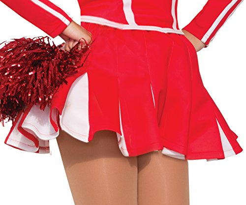 Forum Novelties 78257 Cheerleader Pleaded Adult Skirt Party Supplies, Standard, Red -