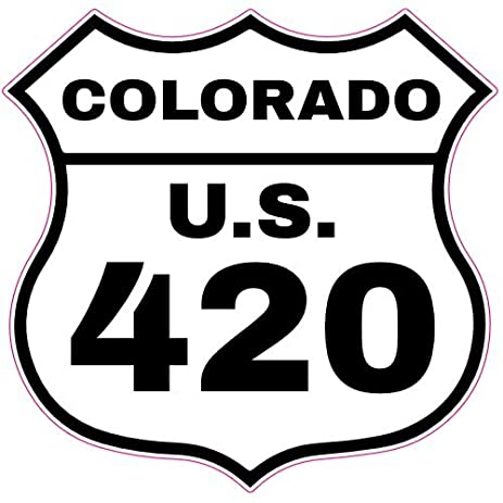 U s custom stickers colorado u s route 420 road sign sticker 3