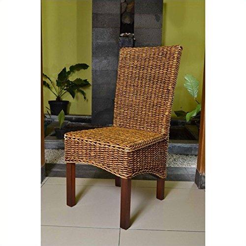 International Caravan SG-3302-1CH-IC Furniture Piece Gaby Woven Banana Dining Chair