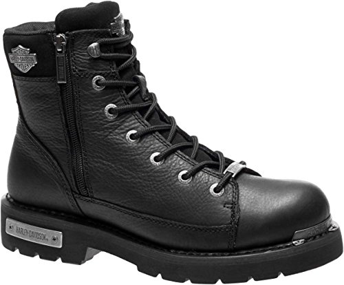 HARLEY-DAVIDSON Men's Chipman Motorcycle Boot, Black, 7.5 Medium US (Motorcycle Helmet And Boots)
