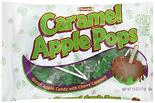Caramel Apple Pops by Tootsie Roll - 7.5 Ounce Bag of Individually Wrapped Pops