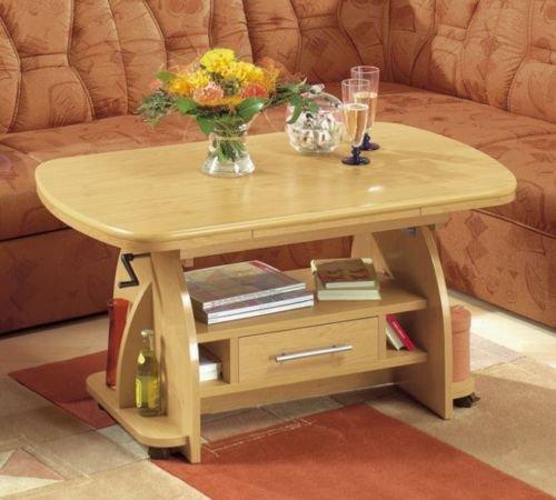 Couchtisch Eiche Rustikal Höhenverstellbar ausziehbar Tisch ...