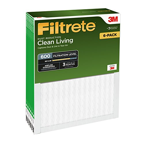 051111098356 - Filtrete Clean Living Dust Reduction, MPR 600, 14 x 20 x 1-Inches, 6-Pack carousel main 1
